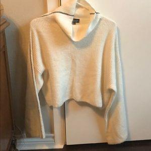 Topshop Crop Top Sweater